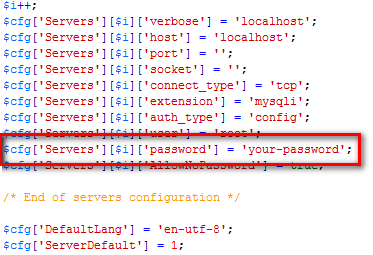 phpMySql Error – Access denied for user 'root'@localhost