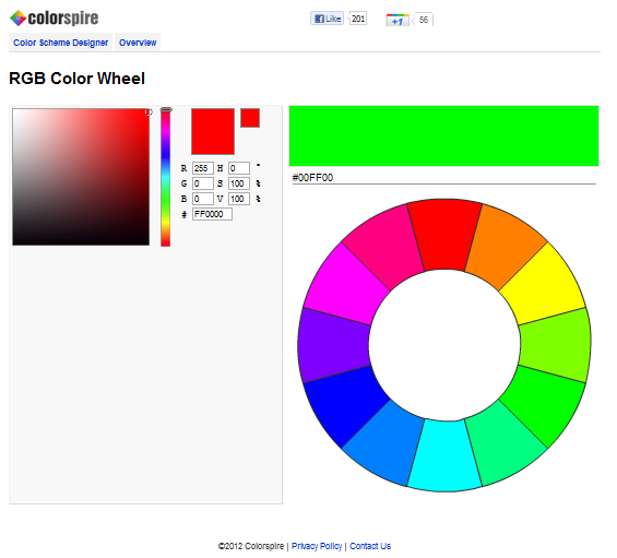 Rgb Values Of Colors Color Wheel Tips Thoughts Notes